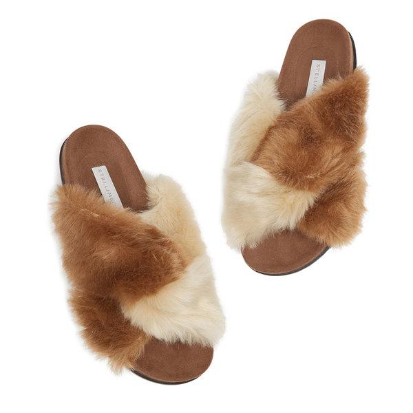 Stella McCartney Faux-Fur Slide Sandals