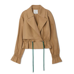 Finn Twill Cropped Trench