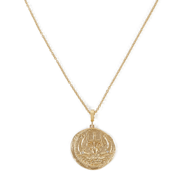 """Azlee Of The Sea Large Diamond Coin with 20"""" Chain"""