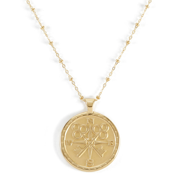 Jane Win Traveler's Coin Pendant Necklace