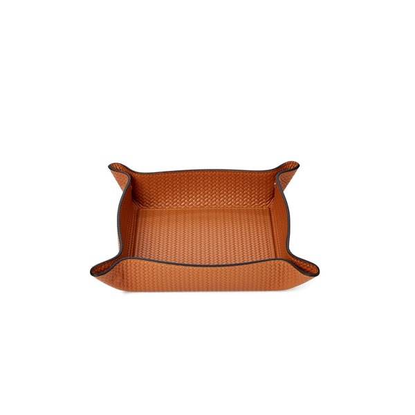 pinetti Woven Leather Valet Tray