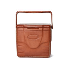 Leather-Wrapped Small Cooler