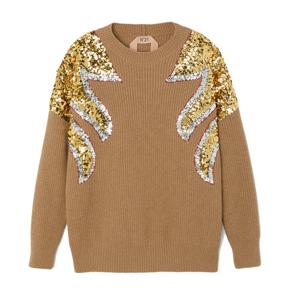 No. 21 Sweater With Sequins