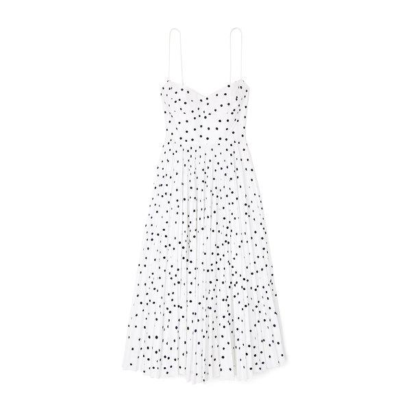 Khaite Pamela Polka-Dot Cotton Dress