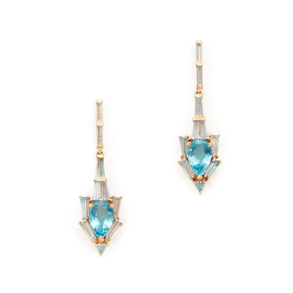 Nak Armstrong Anchor Rose-Gold & Apatite Earrings