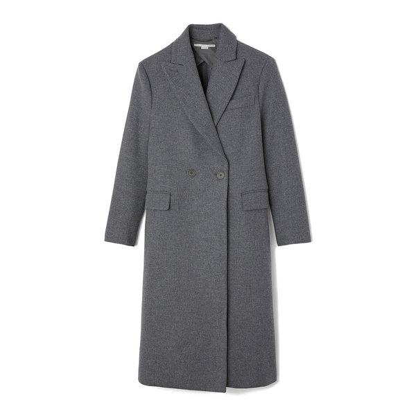 Stella McCartney Grey Mélange Wool Coat