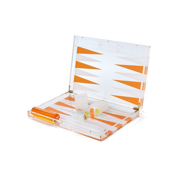 Jayson Home  Lucite Backgammon Set