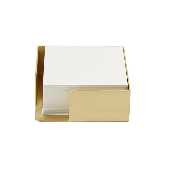 Alissa Bell Brass Memo Box