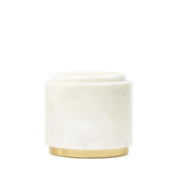 goop x Caravan goop-Exclusive Marble Pillar Holder with Brushed Brass