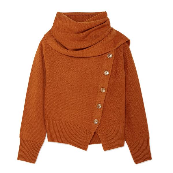 Joseph Draped Wool-Blend Sweater