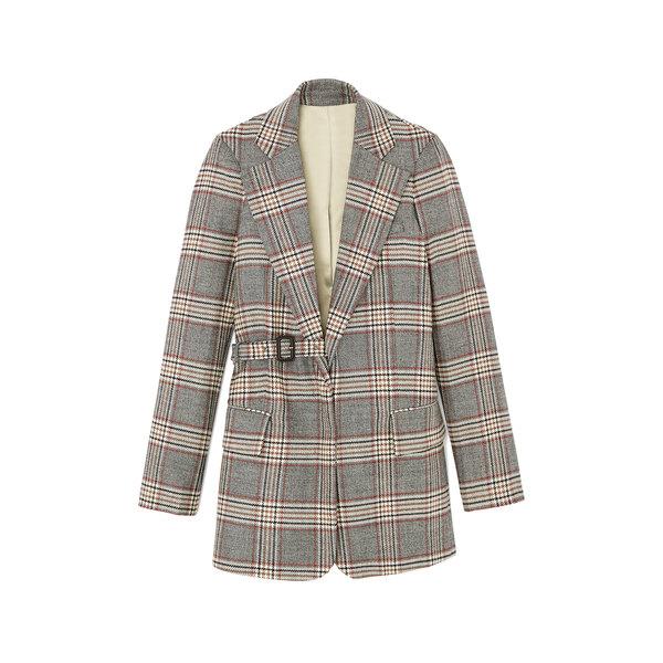Joseph Gemina-Chevron Check Coat