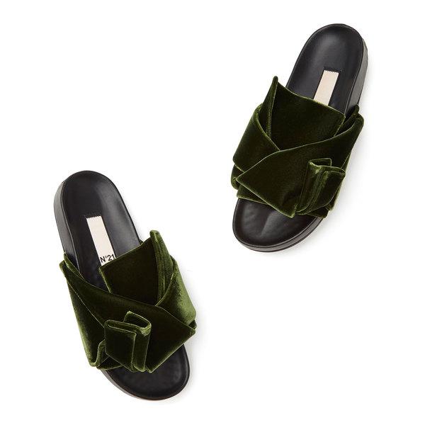 No. 21 Velvet Slide Sandals