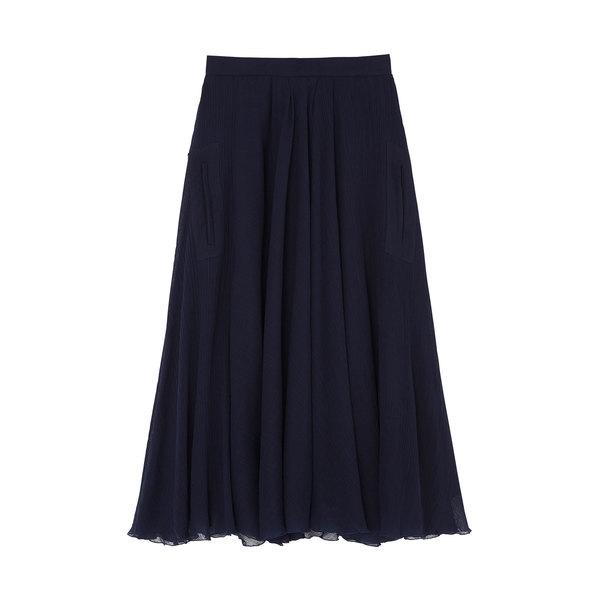 Rochas Wool Gauze Full Skirt