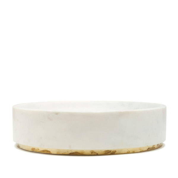 goop x Caravan goop-Exclusive Abstract Round Tray with Brushed Brass