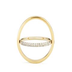 Echo Yellow Gold Diamond Ring