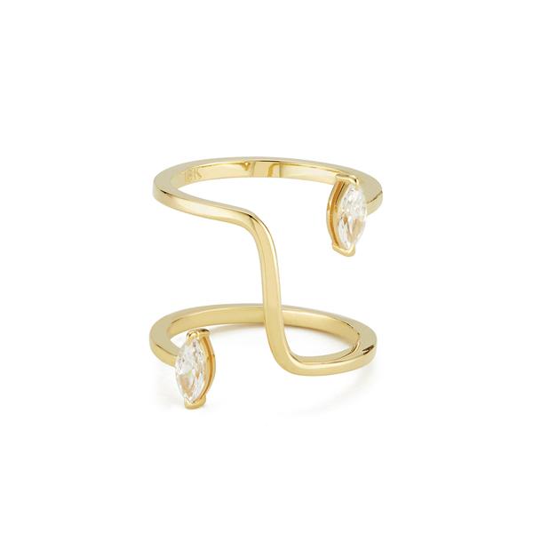 KATKIM The Marquise Farris Yellow Gold Diamond Ring