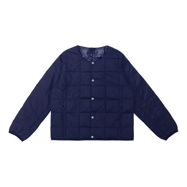 Taion Crew-Neck Button-Down Jacket Kids