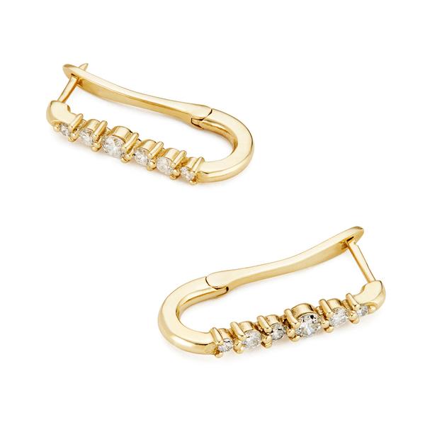 Michelle Fantaci Key Ring Earrings with White Diamonds
