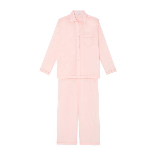Pour Les Femmes Solid Pajama Set