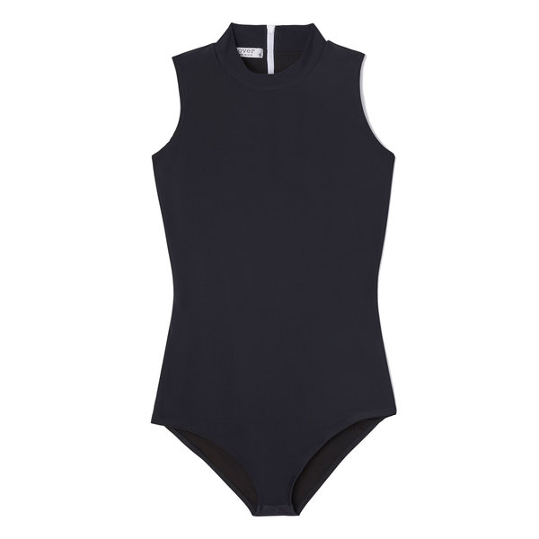Cover High-Neck Sleeveless Swimsuit