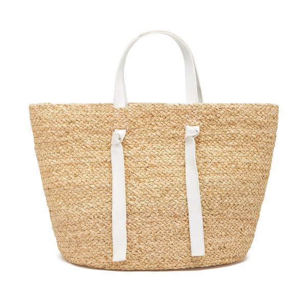 Indego Africa Knotted Raffia Tote