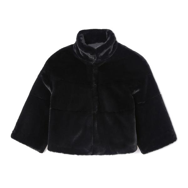 G. Label Emma Faux-Fur Crop Jacket