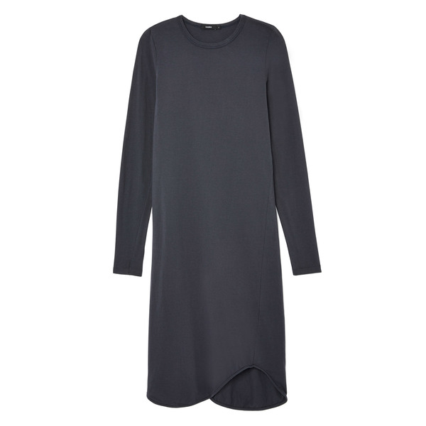 Bassike French Seam Long-Sleeve Dress