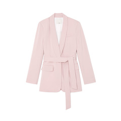 Stretch-Viscose Oversized Tuxedo Blazer