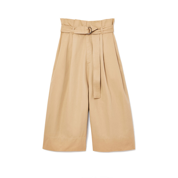 Bassike Twill Belted Wrap Culottes