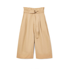 Twill Belted Wrap Culottes