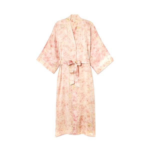 Elizabeth Few Studio  Flower-Dyed Leizu Silk Kimono