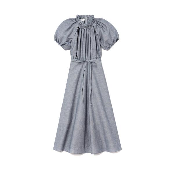 Co Slub-Linen Midi Dress