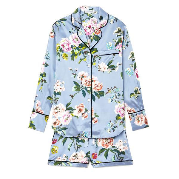 Olivia von Halle Alba Floral Silk PJ Set