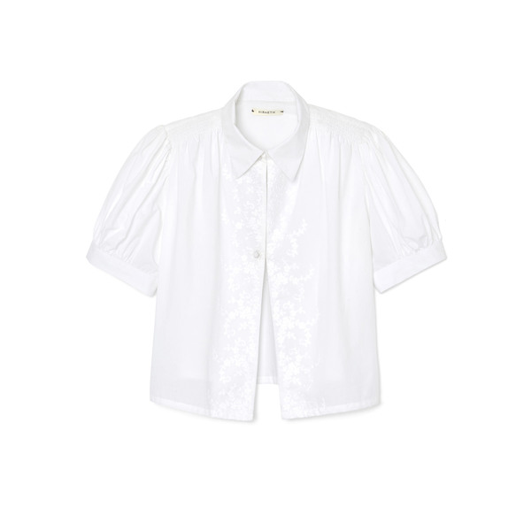 Hiraeth Lee Embroidered Button-Down Blouse
