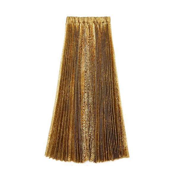 La DoubleJ Lamé Pleated Big Skirt