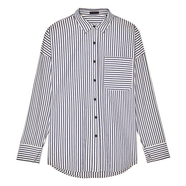 ATM Anthony Thomas Melillo Railroad Stripe Boyfriend Shirt
