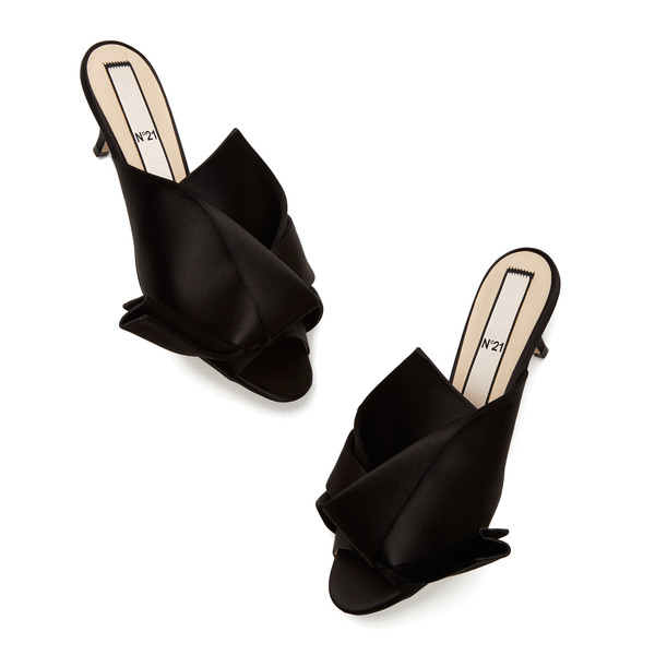 No. 21 Satin Twist-Front Mules