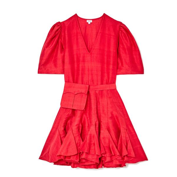 Rhode Vivienne Raw Silk Dress