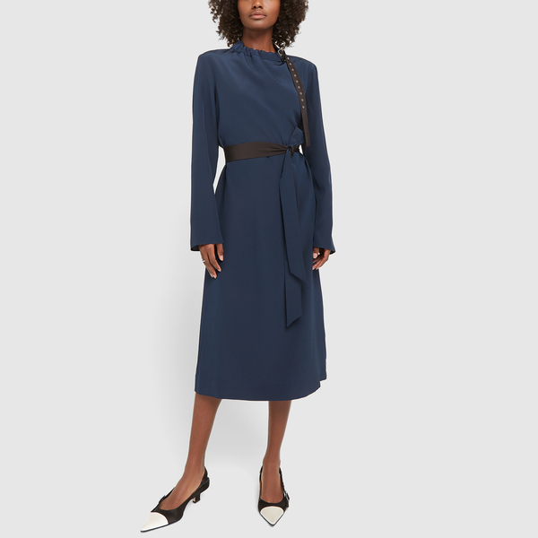 Tibi Silk Crepe Midi Dress