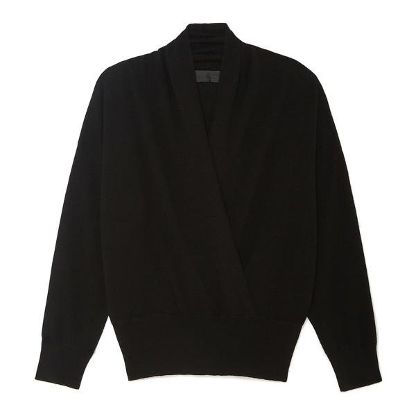 Nili Lotan Lakota Wrap-Front Cashmere Sweater