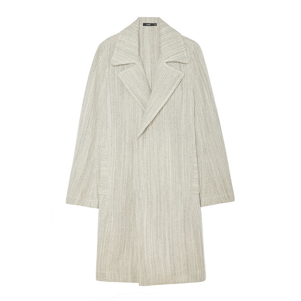 Bassike Textured Linen Trench Coat