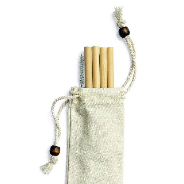 Bamboo Straw Girl  goop Exclusive Bamboo Straws, Set of 4
