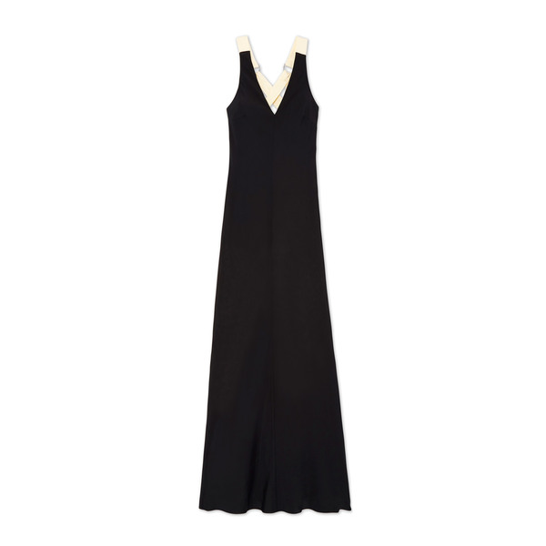 Lee Mathews Didion Contrast Bias Dress