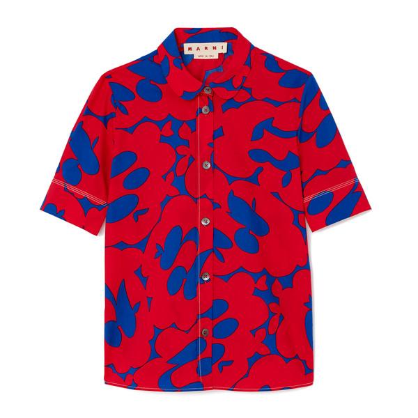 Marni Short-Sleeve Polo Neck Shirt