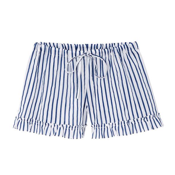 Pour Les Femmes Stripe Cotton Shorts
