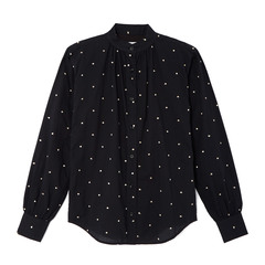 Nicole Italian Cotton Gold Polka Dot Shirt