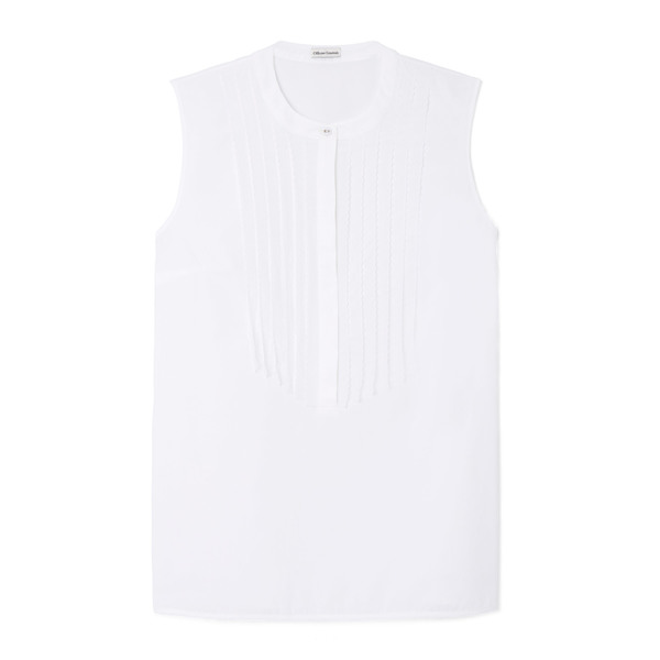 Officine Generale Giulia Bib Cotton French-Lace Sleeveless Shirt