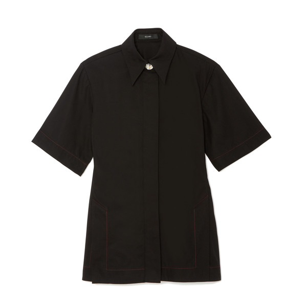 Ellery Rallets Short-Sleeve Cotton Shirt