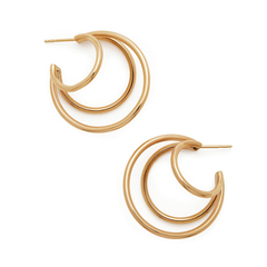 Echo III Yellow-Gold Hoops