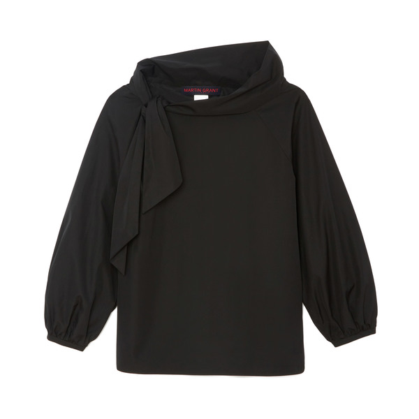 Martin Grant Asymmetrical Knotted Blouse